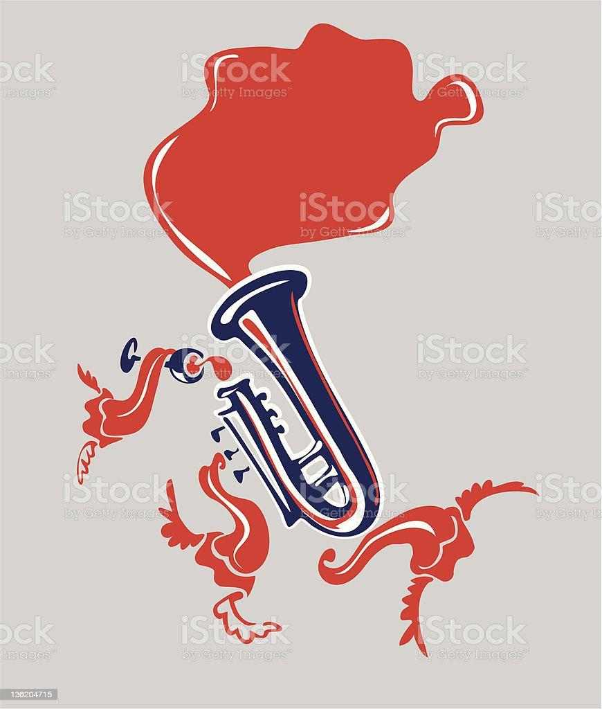 jazz trumpet musical instrument royalty-free stock vector art
