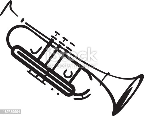 stylized picture of jazz trumpet