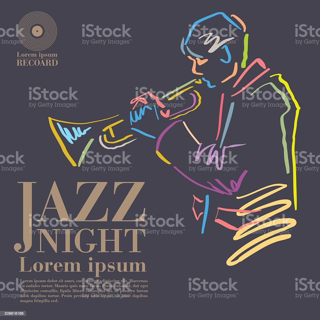 jazz vector art illustration