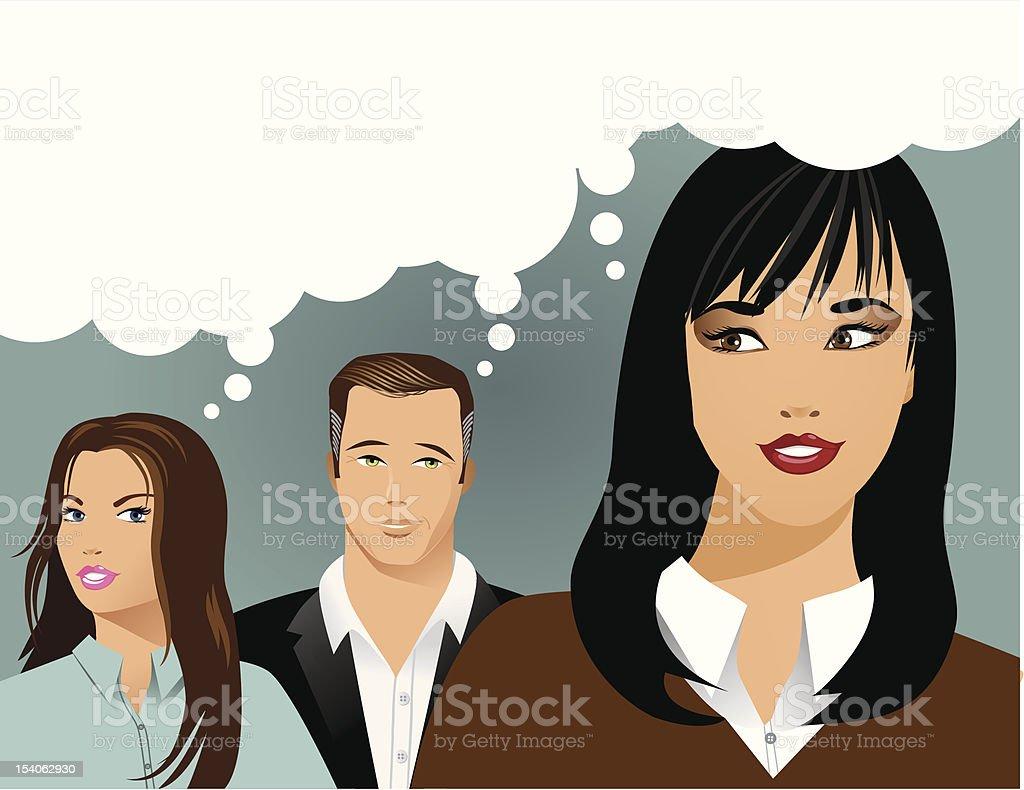 Jealousy vector art illustration