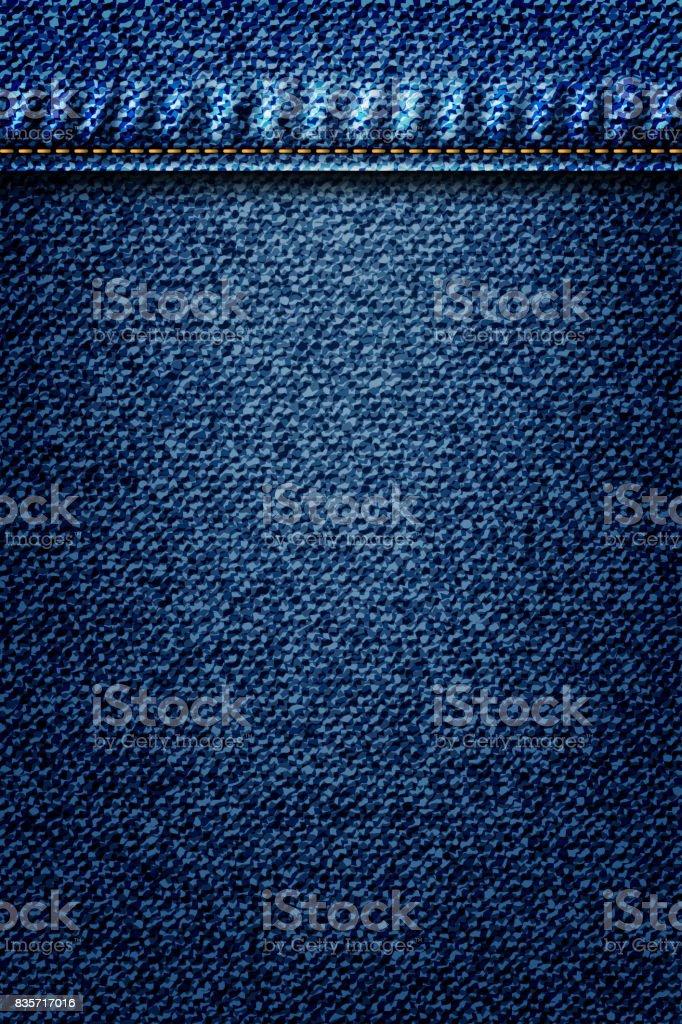 c59ac1cc Jeans ilustração, azul jeans fundo com bolso ou textura border elemento.  Padrão de superfície