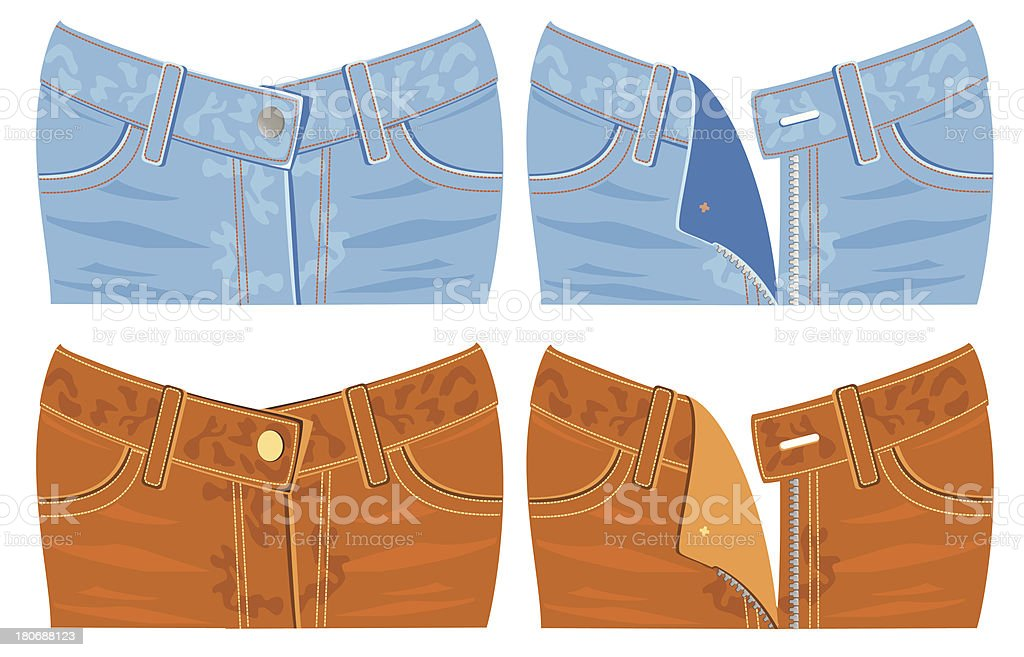 Jeans vector art illustration