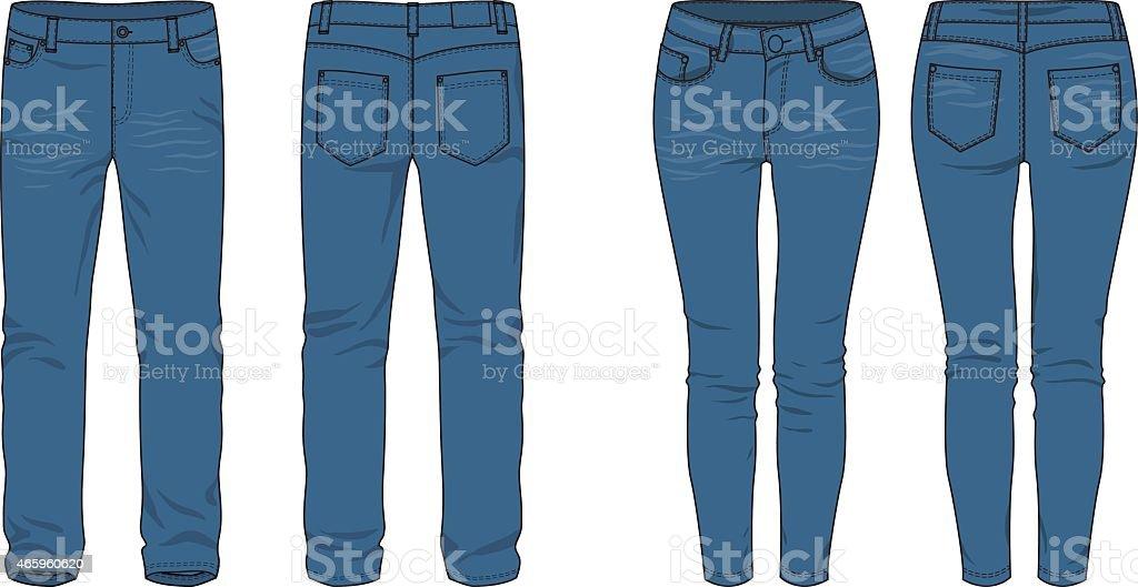 Jeans. vector art illustration