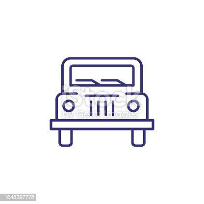 istock Jeep line icon 1048397778