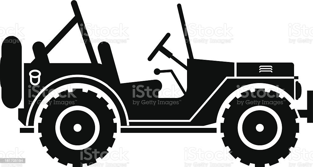 Jeep silhouette. royalty-free stock vector art