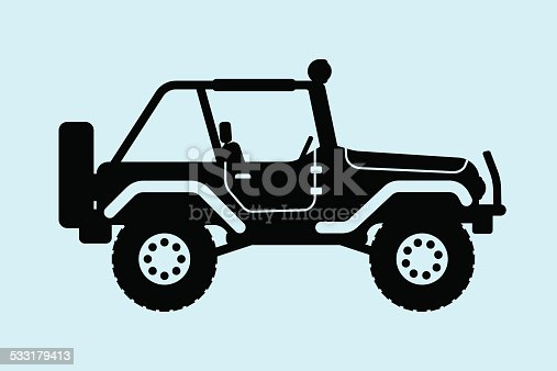 Gin SUV silhouette with an open top