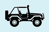 istock Jeep silhouette. 533179413