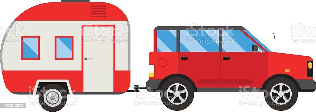 Jeep trailer vector illustration vector art illustration