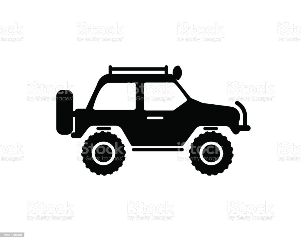 jeep travel icon on white background stock vector art