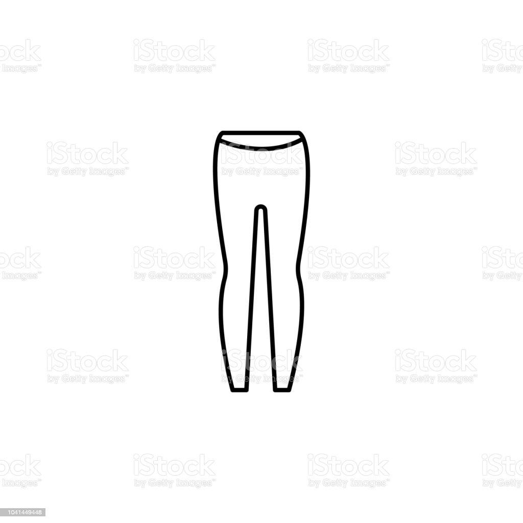 6bf895e8a Ilustración de Skinny Icono De Legging Ropa Mujer Elemento De Icono ...