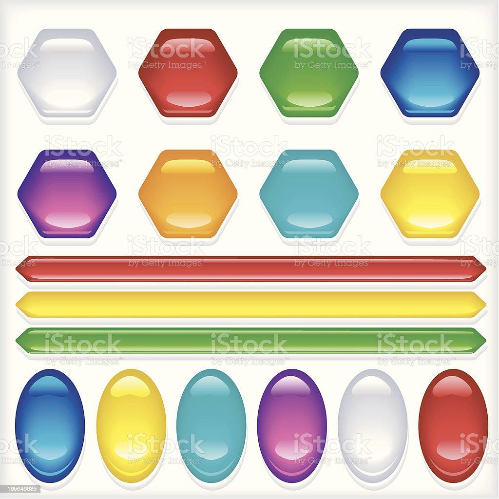 Jello buttons vector art illustration