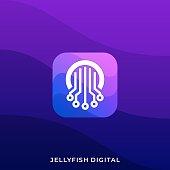 Jellyfish Illustration Vector Template