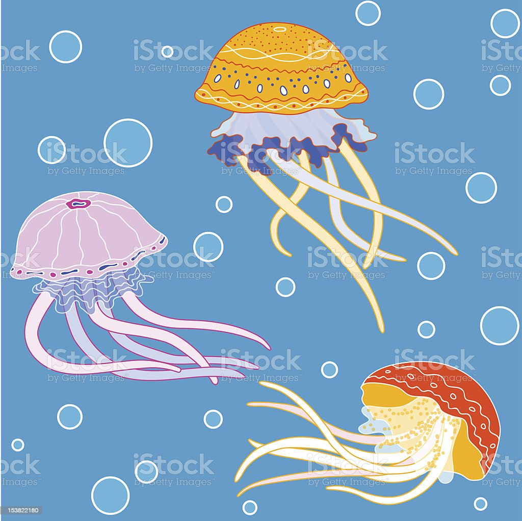 Jellyfish pattern royalty-free stock vector art
