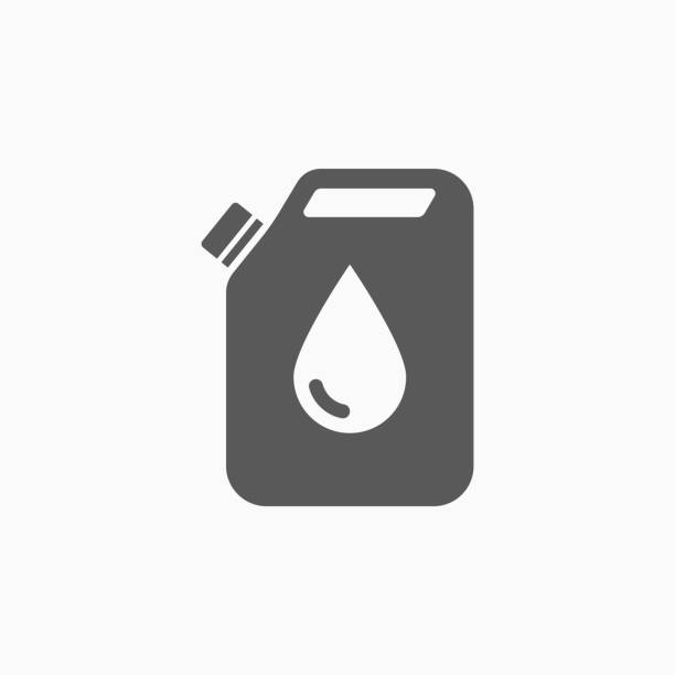 stockillustraties, clipart, cartoons en iconen met jerry can olie pictogram - smering