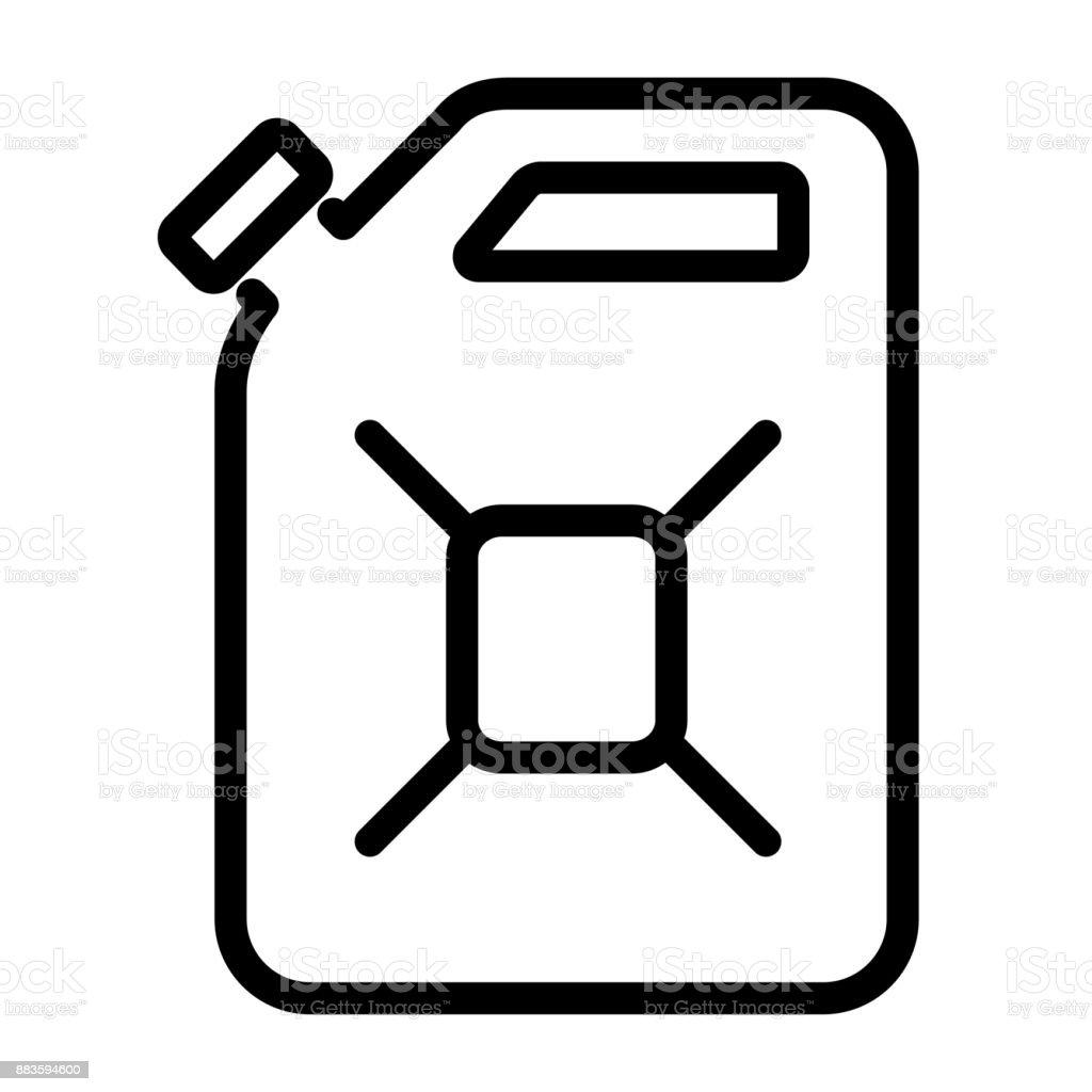 Kanister-Symbol auf weißem Hintergrund – Vektorgrafik