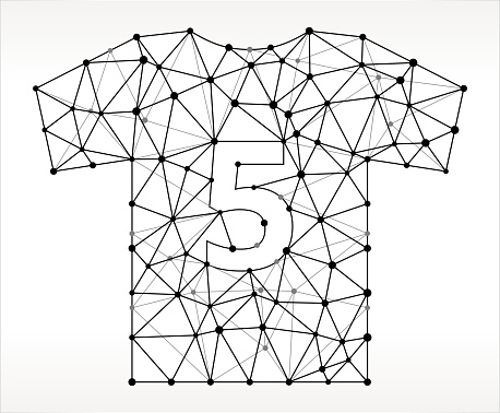 Jersey  Triangle Node Black and White Pattern