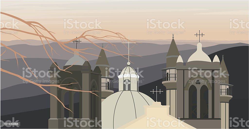 Jerusalem roofs royalty-free stock vector art