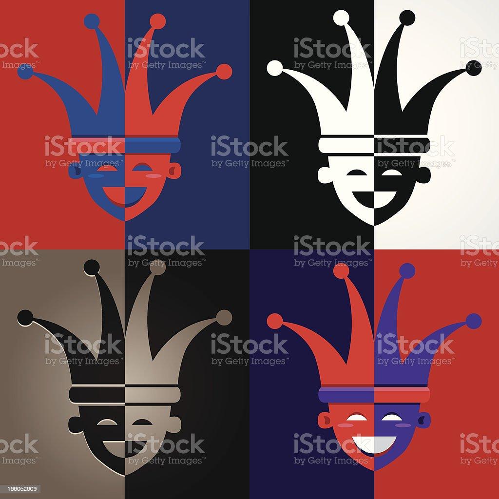 Bouffon visages - Illustration vectorielle