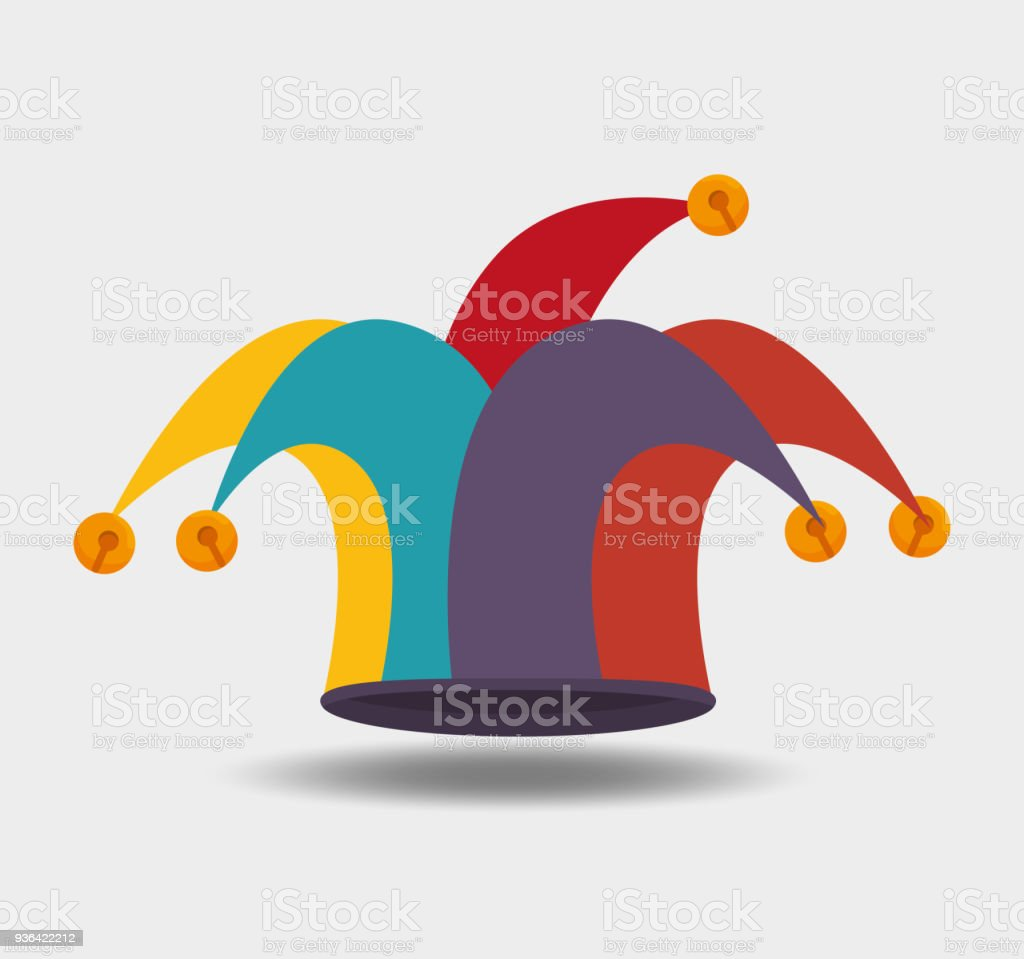 diseño de sombrero de bufón ilustración de diseño de sombrero de bufón y  más banco de 9ef8adc6a90