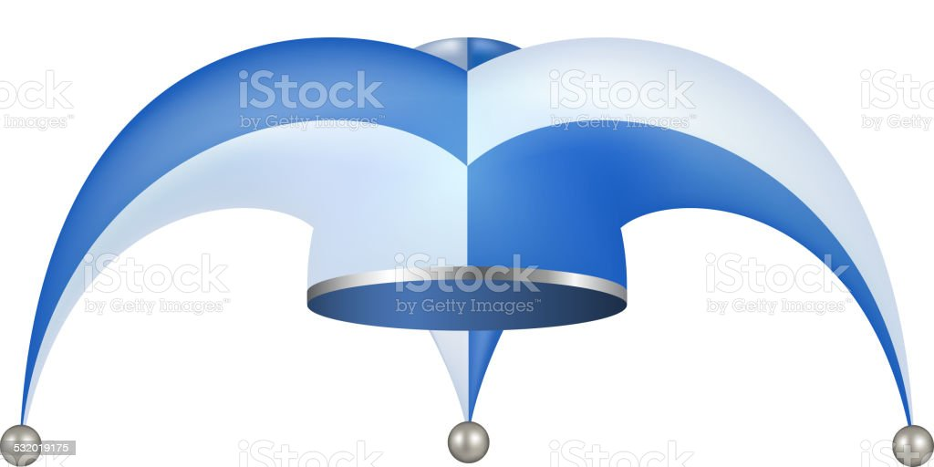 Gorro de bufón diseño azul y blanco ilustración de gorro de bufón diseño  azul y blanco 1f6c1299ded
