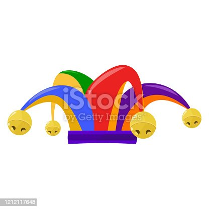 istock Jester hat on a transparent background 1212117648