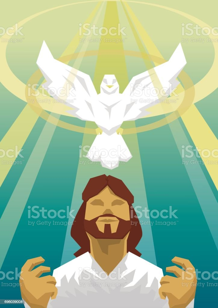 Jesus baptism of the Holy spirit.