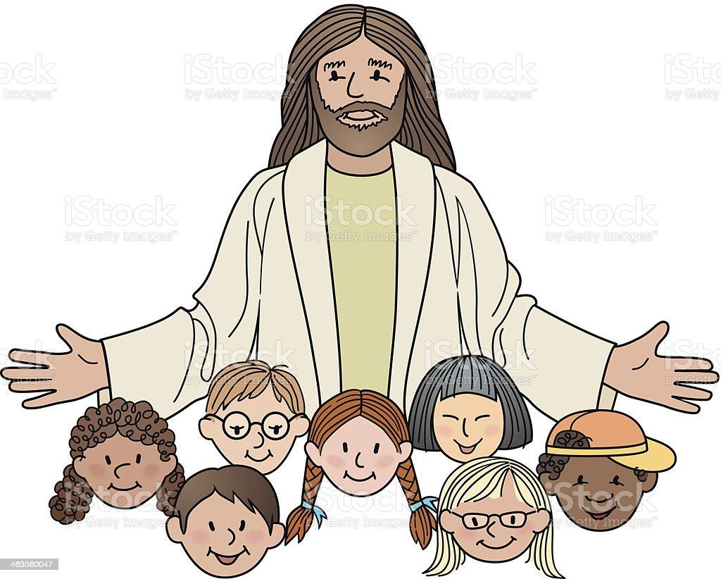 royalty free jesus child clip art vector images illustrations rh istockphoto com Baby Jesus Clip Art Jesus On the Cross Clip Art