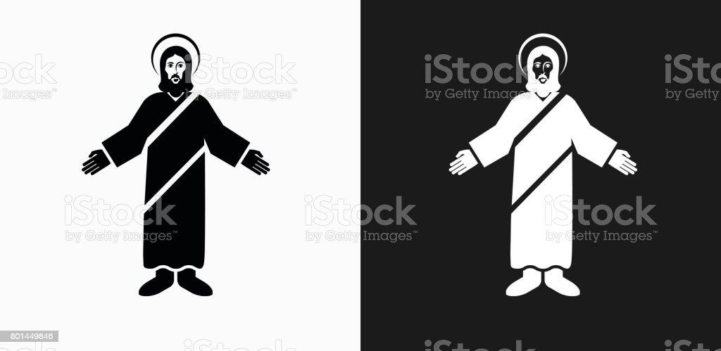 Ilustración de Icono De Cristo Jesús En Blanco Y Negro Vector Fondos ...