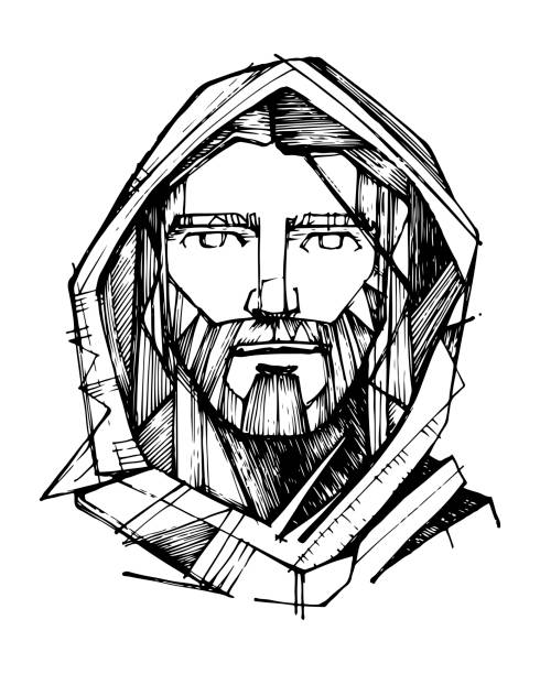 ilustrações de stock, clip art, desenhos animados e ícones de jesus christ illustration - jesus cristo
