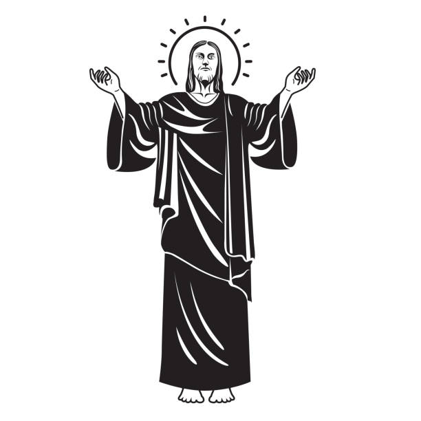 Royalty Free Jesus Face Silhouette Clip Art, Vector Images ...