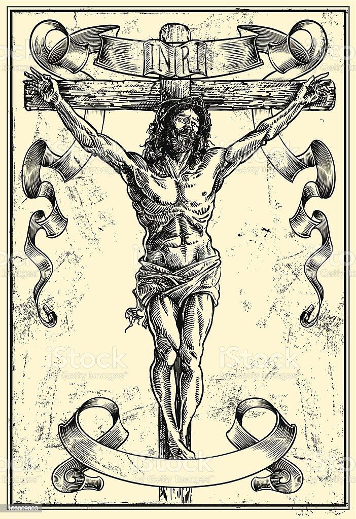 Jesus Christ vector art illustration