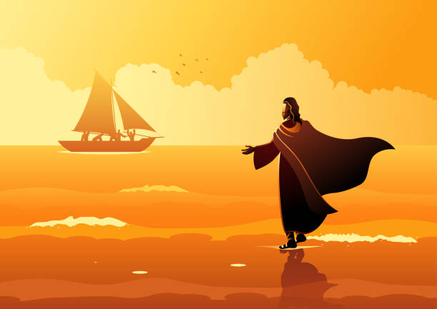 Best Silhouette Of Jesus Disciples Illustrations, Royalty ...