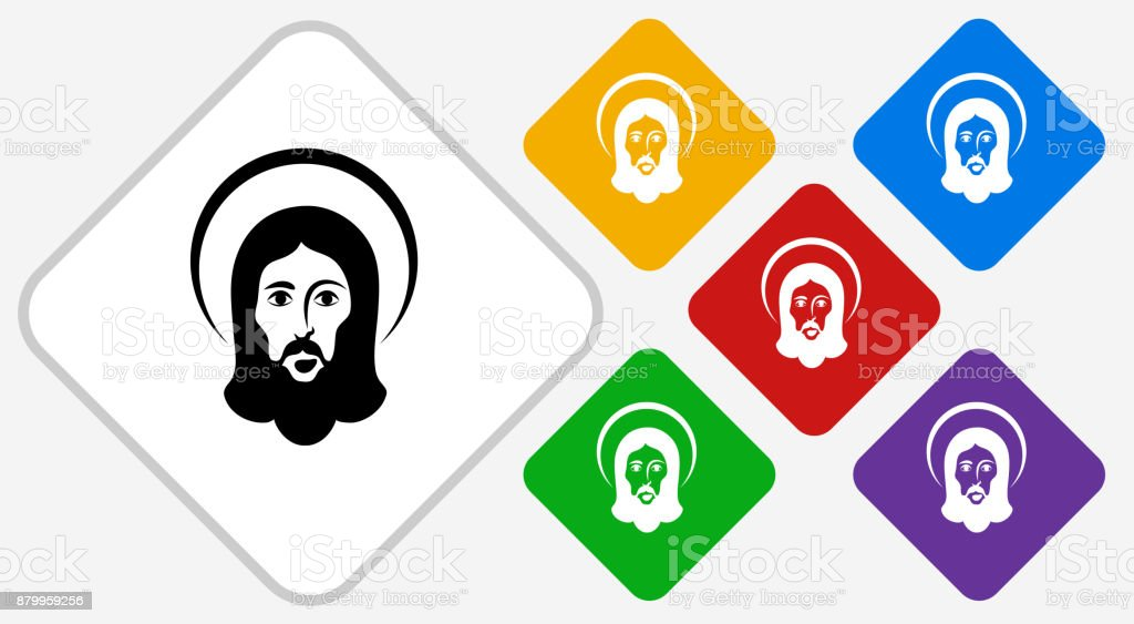 Jesus Color Diamond Vector Icon Stock Vector Art & More Images of ...