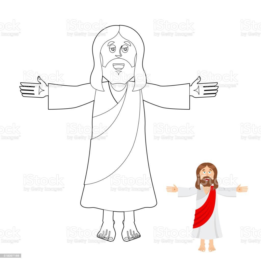Ilustración De Jesús Colorear Libro Jesús Cristo Dibujo Para Niños