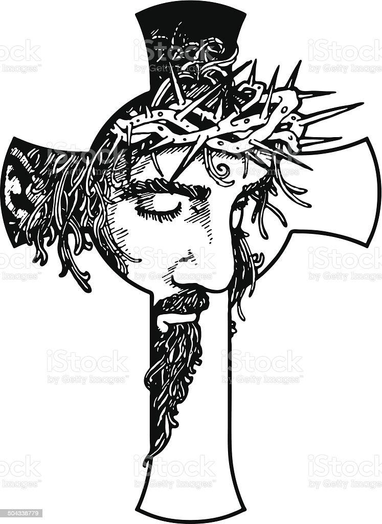 Jesus Cross vector art illustration