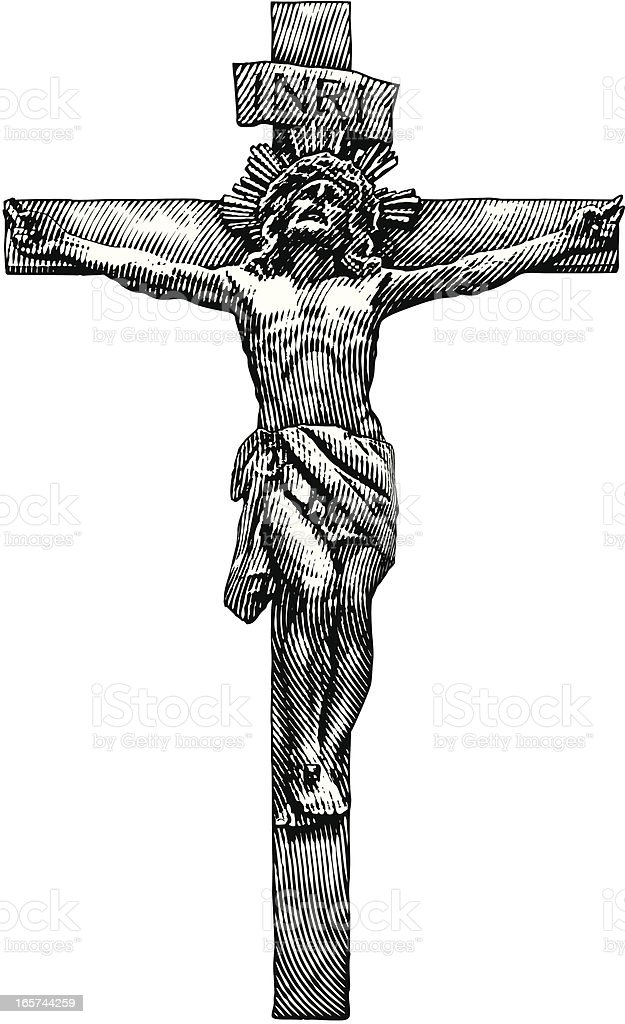 Jesus Crucifixion vector art illustration