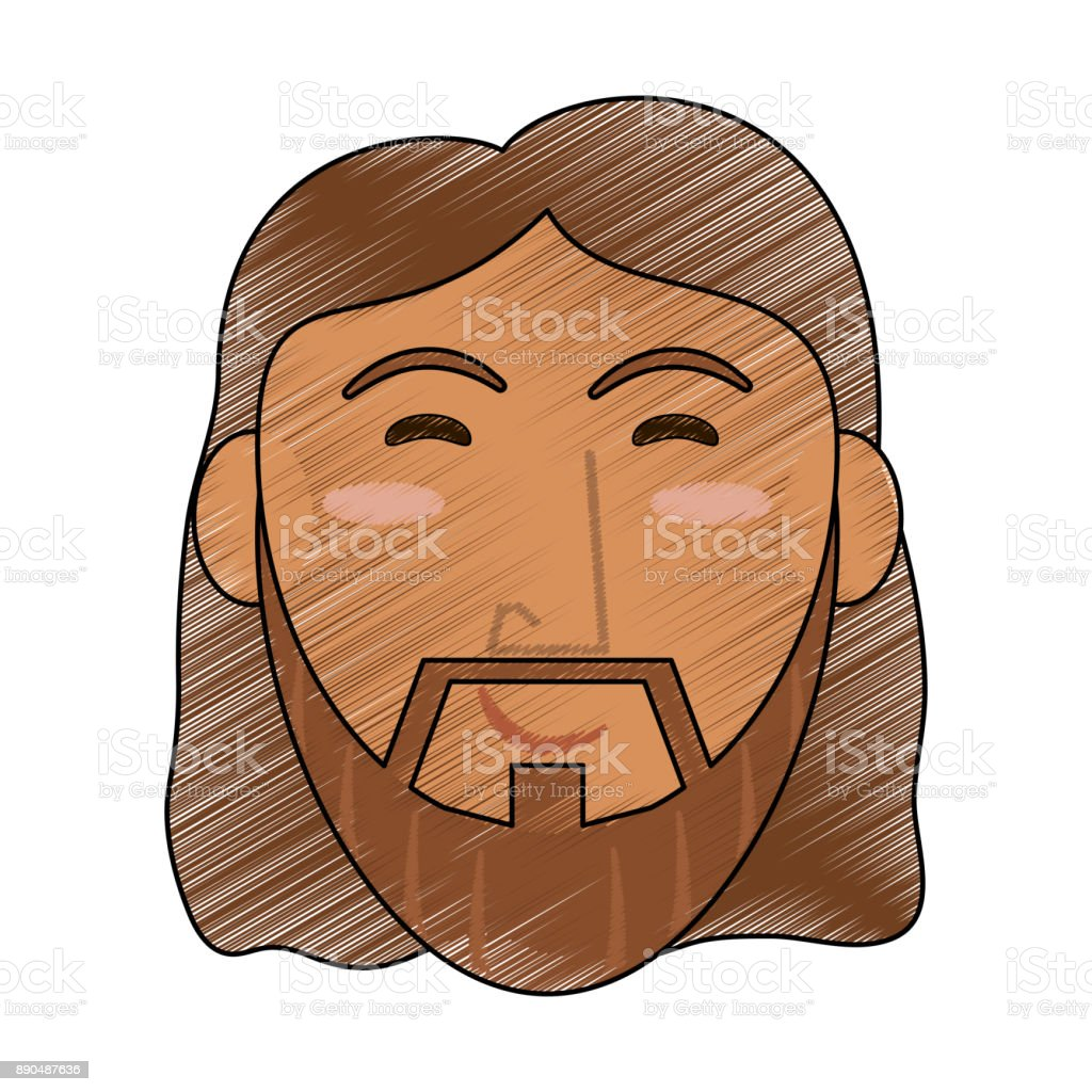 Jesus Face Cartoon Stock Illustration Download Image Now Istock