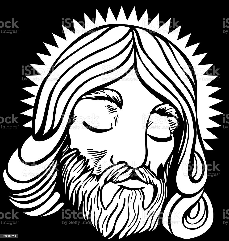 Jesus face line art