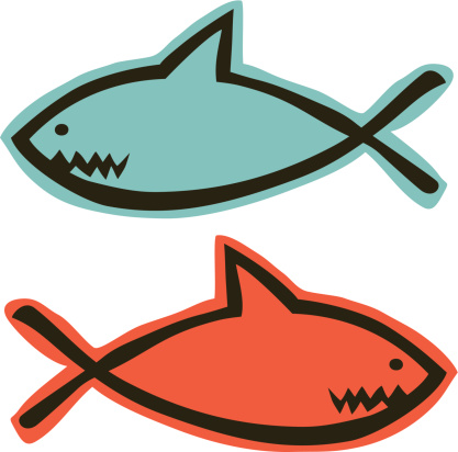 Jesus Fish Shark Doodle