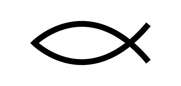 Jesus fish symbol. Christian symbol