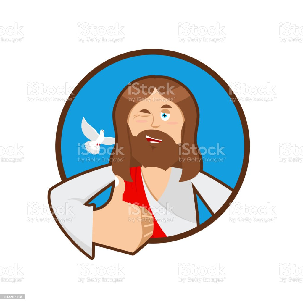 royalty free thumbs up jesus clip art vector images illustrations rh istockphoto com free clip art jesus preaching free clip art jesus birth