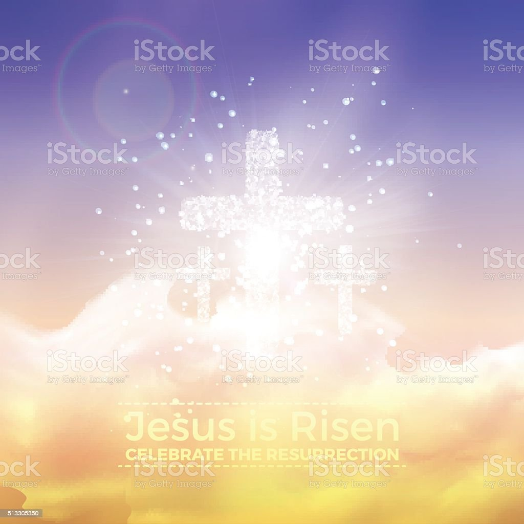 Jesus is risen, vector Easter illustration vector art illustration