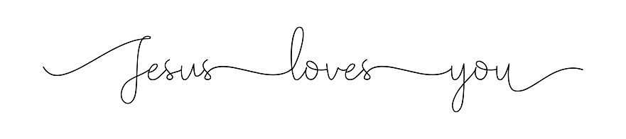 Jesus loves you. Christian, bible, religious phrase, quot.