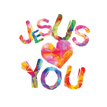Download Jesus Loves You Triangular Letters Stock Illustration ...