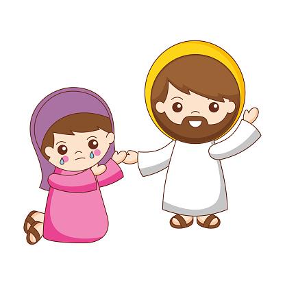 Jesus saves and forgives Maria Magdalena