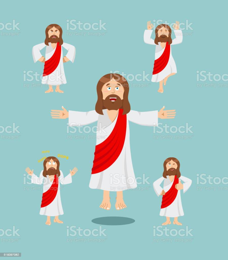 Jesus set of movements. Jesus set of poses. Jesus is expression of...