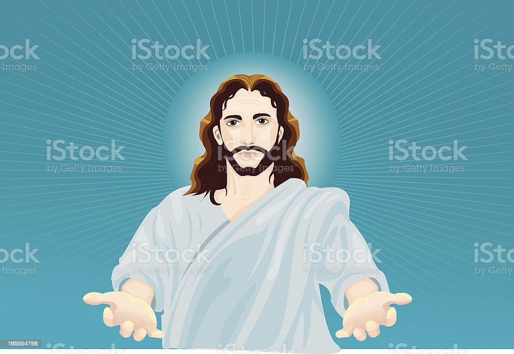 jesus vector art illustration
