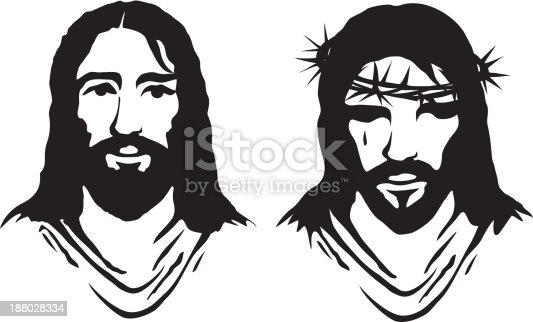 Christ 's face. ZIP contains AI format, PDF and jpeg XXXLarge.