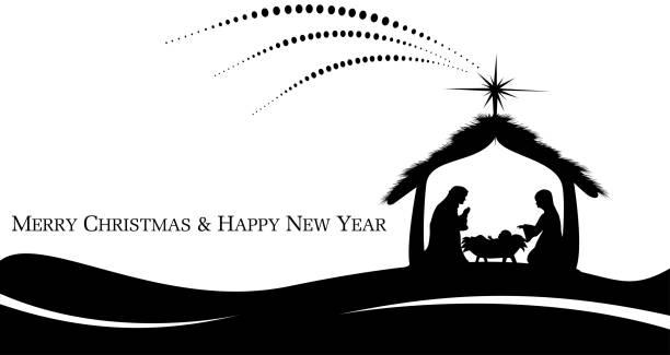 Jesus wurde geboren – Vektorgrafik