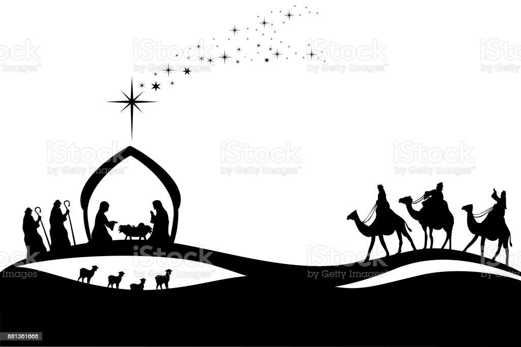 Jesus Geburt – Vektorgrafik
